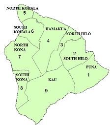 ハワイ島の地図