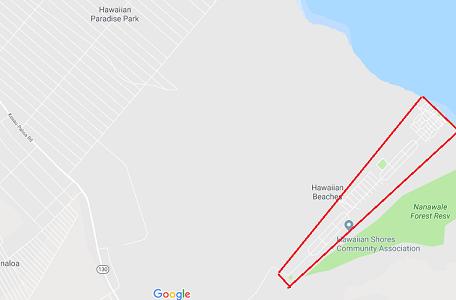 ハワイアンショアーズ・ハワイアンビーチーズ・ハワイアンパークスの地図