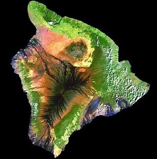 ハワイ島地形図