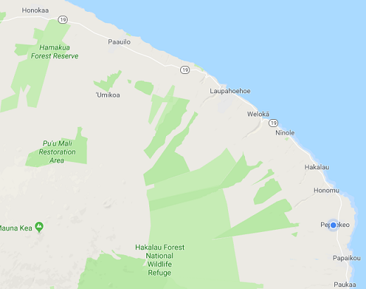 ハマクアコーストの地図