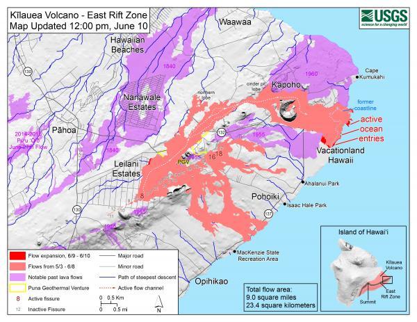 溶岩の被害が拡大